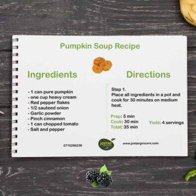 pumpkin soup, gentummarketing, jostar grocers